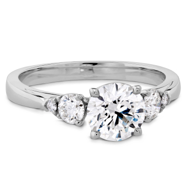 Hearts On Fire Sidestone Engagement Rings