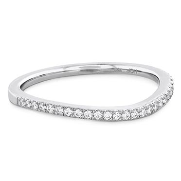 Shop curved women's wedding bands