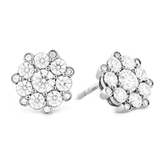 Beloved Cluster Diamond Stud Earrings