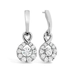 Optima Diamond Drop Earrings