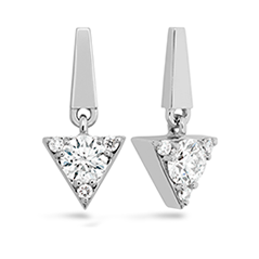 Triplicity Triangle Drop Earrings