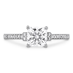 Deco Chic Milgrain Engagement Ring