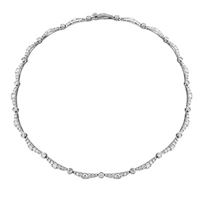 Lorelei Ribbon Diamond Line Necklace