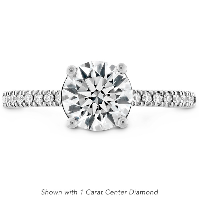 Sloane Silhouette Engagement Ring Diamond Band