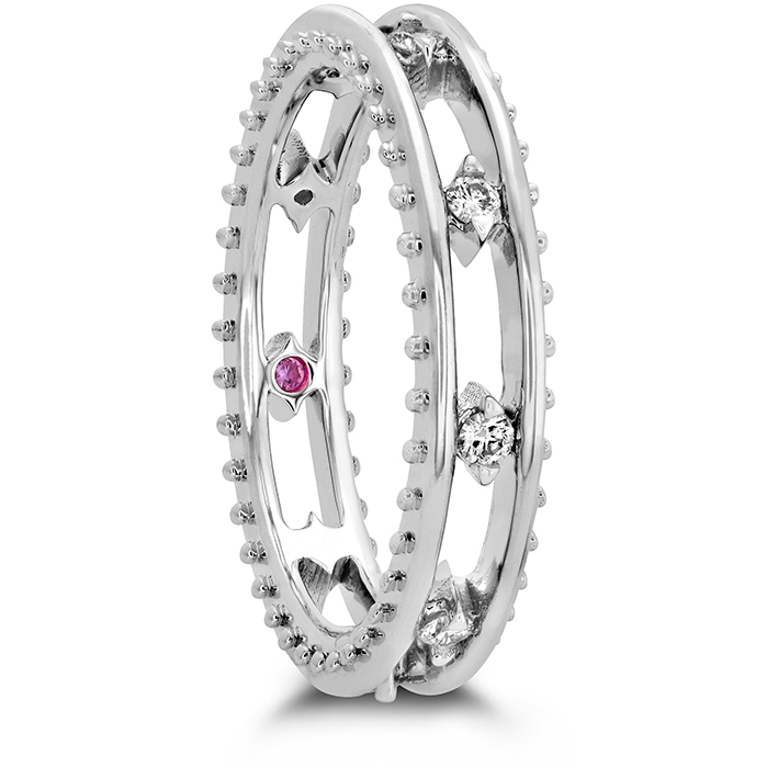 Sloane Picot Floating Diamond Band