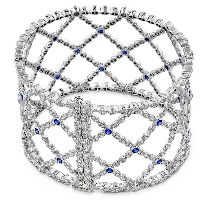 Lorelei Lattice Dia Sapphire Bangle